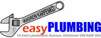Licensed in Kitchener as Master Plumber