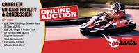 TIMED ONLINE AUCTION     Complete Go-Kart Facility & Concession