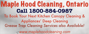 Commercial Kitchen Exhaust Hood (Canopy) Cleaning