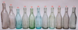 Coca-Cola Canada straight sided city  bottle set / Bouteilles