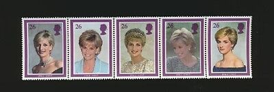 Princess Diana Portraits Mint NH Complete Stripf 5 Diff Great Britain #1795a
