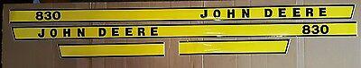 John Deere 830 Hood Decal Set