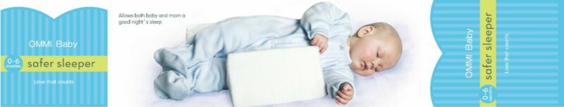 OMMI Baby Sleep pillow, Infant Support Wedge, Adjustable, 0-6 months.