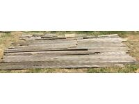 10m2 of used Decking Boards Planks WOOD TIMBER Nr Brighton SUSSEX