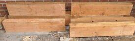 2.6 & 1.3m Douglas fir beams / sleepers
