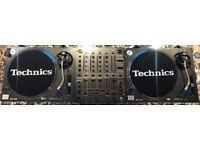 Technics SL-1210MK2 Turntables, DJM 600 mixer & Ortofon Concord DJ Needles