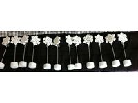 12 PLace Card Holders weddings ,parties ,events