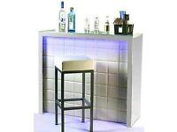 Desk NEW bar reception counter salon chairs white