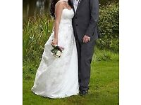 Stunning Amanda Wyatt embroidered dress in ivory and champagne, size 10, worn once and proff cleaned