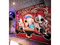 LARGE 8ft x 8ft FREAK SHOW CIRCUS FAIRGROUND FUNFAIR PEEP BOARD PANEL ARTWORK SIGN ETC