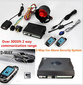 2-Way Car Alarm Security System w/ 2 Pcs LCD Super Long Distance