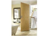 6 Wickes Geneva Internal Cottage Oak Veneer Doors 5 Panel