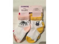 Cute baby socks, 7 pairs. M&S days of the week with animals