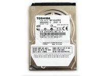 160GB Toshiba laptop hard drive SATA