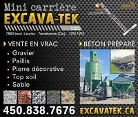 WWW.EXCAVATEK.CA  MINI CARRIERE 7860 BOUL. LAURIER LAPLAINE  450