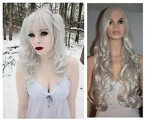 NEW: Deluxe 80cm Silver Wig for WITCH,VAMPIRA, X-MEN Costume