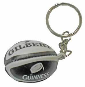 GILBERT guinness rugby ball key ring