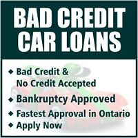 ALL CREDIT CAR LOANS IN GTA - $0 Down, Same Day Approval
