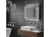 STYLISH HIB OUTLINE LANDSCAPE 80 LED Bathroom Mirror RRP £299 BNIB