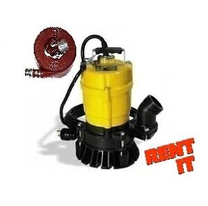"RENT ME -- 2"" WACKER SUBMERSIBLE PUMP W/ 50 FT HOSE $25 A DAY"