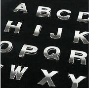 Chrome Car Letters