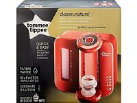 NEW & UNUSED - RED Tommee Tippee Closer to Nature Perfect Prep Machine
