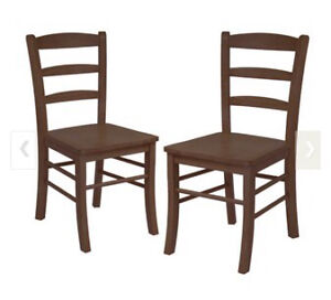 Brand new set of two ladder dining chairs Kitchener / Waterloo Kitchener Area image 1