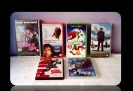 JIM CARREY FILMS - VHS TAPES & DVDS - 6 TITLES - FOR SALE