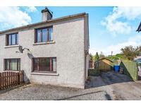 2 Bedroom semi-detached house, £5,000 below value, large garden, off road parking, fireplace..