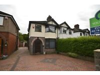 LARGE 3 bed semi with conservatory garage garden
