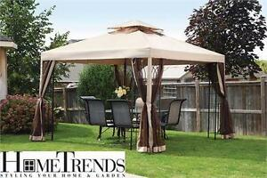 NEW* HOMETRENDS EASY SET GAZEBO 10' GARDEN PATIO FURNITURE Outdoor Living Canopies Shade
