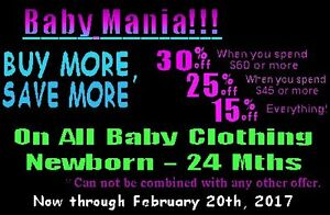 BABY MANIA - SAVE up to 30%!!!