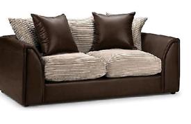 Byron 3+2 Sofa brown with jumbo Cambel Cushion