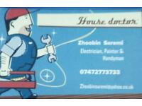 Electrician, painter, refurbishment, and handyman