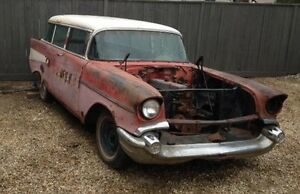 1957 Chev. 210 Rare 2 door  WAGON Great Winter Project