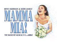 X2 Mamma Mia Theatre Tickets