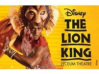 The Lion King - 3 tickets for Tues 29th May - £45