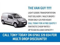 THE VAN GUY IN SOUTH LONDON !!! - CHEAP MAN WITH VAN HIRE FROM £25 PER HOUR!! CALL / TEXT /WHATSAPP