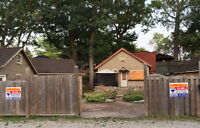 Cottages for sale on two lots