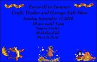 Farewell to Summer craft, vendor and Indoor Garage Sale Show