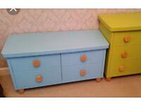 Ikea mammut light blue drawers