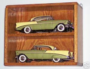 nascar or diecast oak 1/18th 2 car tower display case