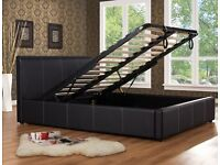 Great buy king size leather ottoman storage bed