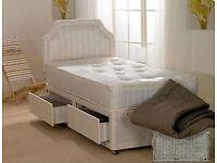 TOP SELLER - BRAND NEW SINGLE ROYAL FULL ORTHOPAEDIC DIVAN BED AND MATTRESS