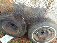 """14"""" Studded Winter Tires (includes rims)"""
