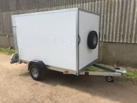 Trailer Tickners GP 8' x 5' x 5' Box Trailer in White with Ramp