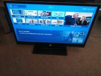 3d sharp 40 inch freeview 4 hmdi ports hd tv with remote working with fault