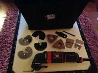 Black & Decker 230V Corded Oscillating Multi-Tool + Attachments & Tool Bag