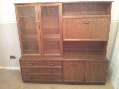 Large GPlan Display Wall Unit Dresser Cabinet Sideboard Dining Room