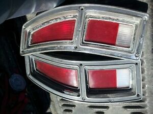 pair of 1972-77 ford ranchero tail lights with trim & wiring Belleville Belleville Area image 1